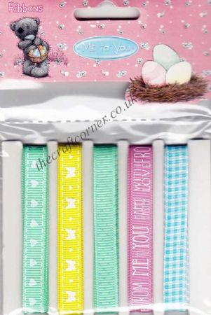 Me To You Happy Easter 5 Pack of 1 Metre Ribbons